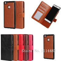 For Huawei P9 P8 Lite 2 In 1 Detachable Magnetic Case Wallet Leather Cover Accessories Carcasas
