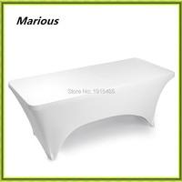 Marious 10ピース6フィート長方形ライクラストレッチスパンデックス表布弾性結婚式のテーブルカバー送料無料