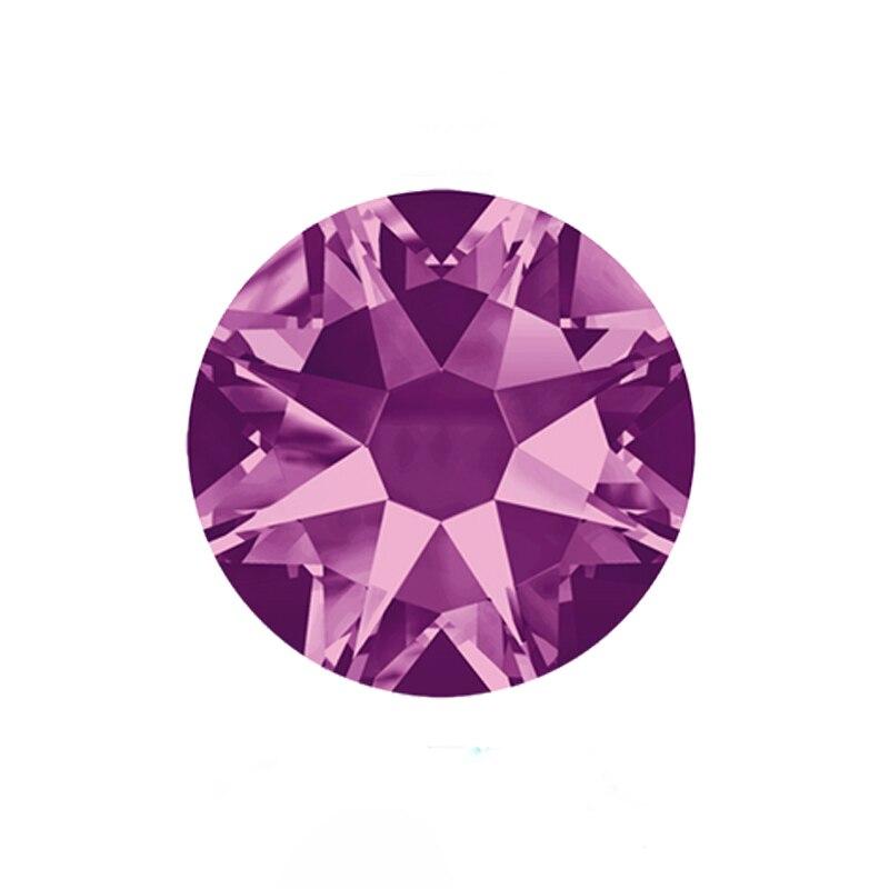 YANRUO #2088HF SS20 Amethyst 1440Pcs 8 Big + 8 Small Strass Flatback Hot Fix Iron On Crystal Glass Rhinestone