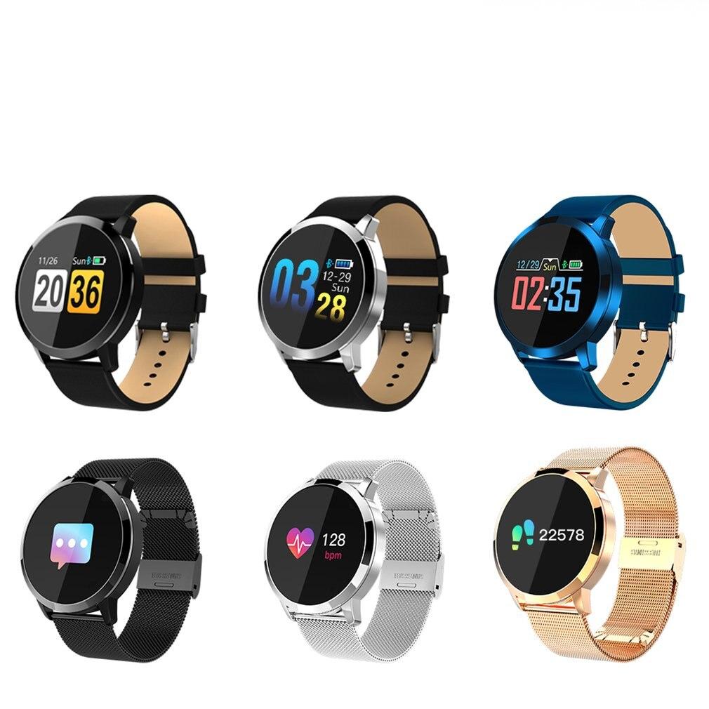 Q8 Sport Braccialetto Intelligente Schermo a Colori Smartwatch Impermeabile Bluetooth Heart Rate Monitor di Pressione Sanguigna Orologio Da Polso