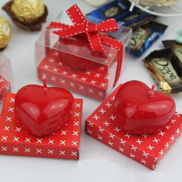 40pcs Red Heart Fragrant Candle Romantic Propose Wedding Birthday Party Decoration Valentine Gift Lover Surprise Accessories