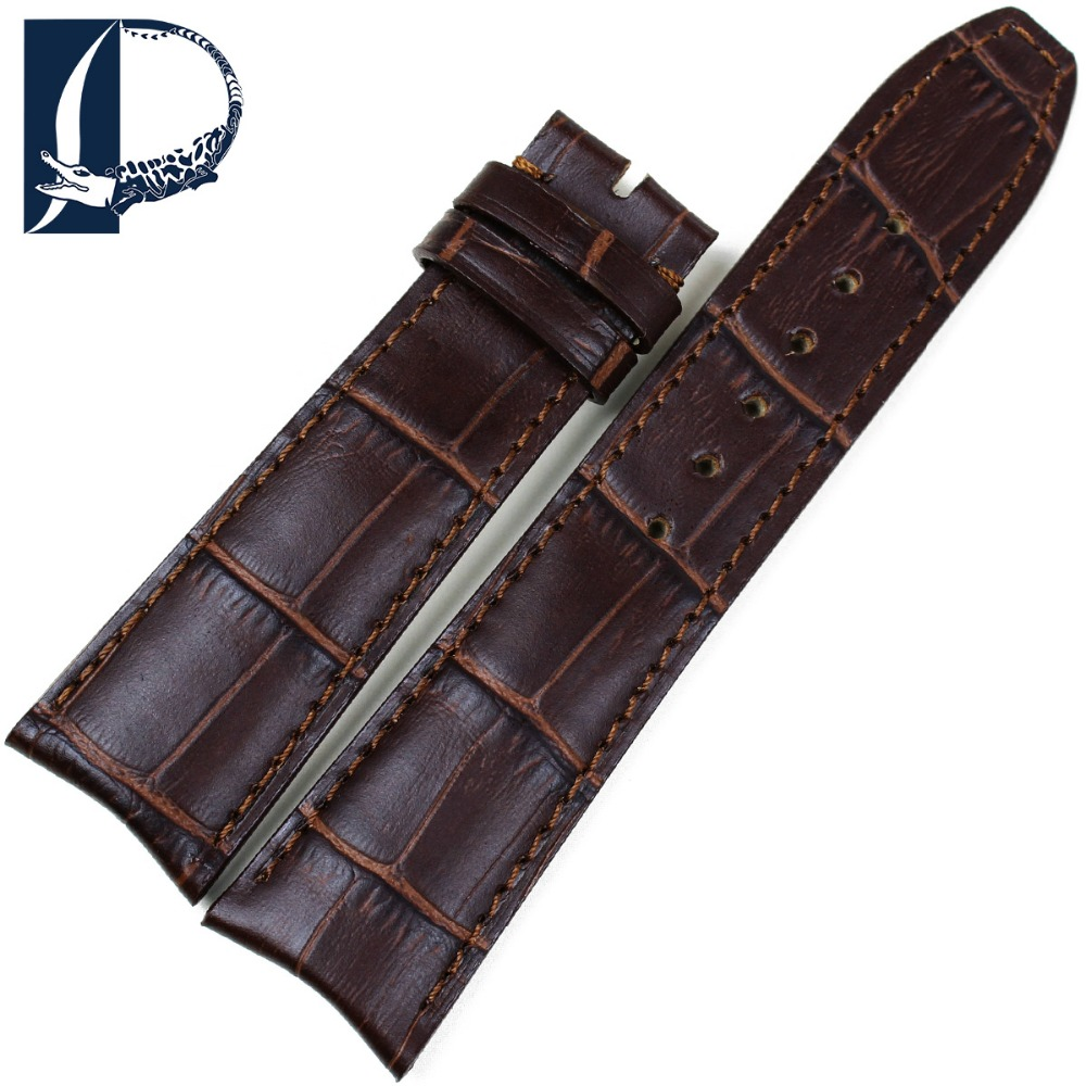 Pesno Croco Alligator Grain Genuine Leather Wristwatch Band Watch 20mm Watchband 21mm Strap Watch Men's Watch for Baume&Mercie lucky john croco spoon big game mission 24гр 004