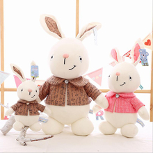 New Lovely Wearing Clothing Rabbit Plush Toy Stuffed Animal Toys Doll Children Birthday & Christmas Gifts