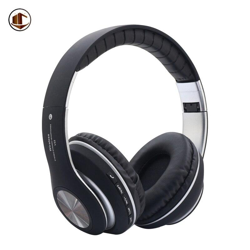 V33 Bluetooth Беспроводной Наушники Hi-Fi студия Call Center fm-радио синий зуб гарнитура Оптовая Silent Disco стерео наушники ...