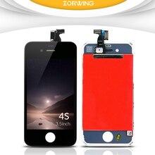Продажа 100% без битых пикселей ЖК-дисплей Экран для iPhone 4S Дисплей с планшета Сенсорный экран Замена Ассамблея завершить черный, белый цвет