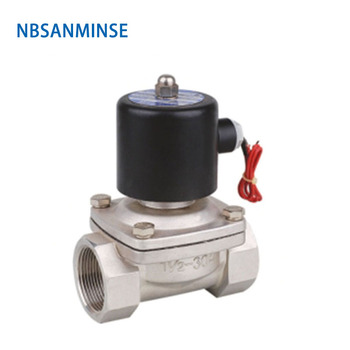 2WB-8 1-1/4 1-1/2 2 Solenoid Valve Stainless Steel Direct-acting Diaphragm Square Coil Solenoid Valve For Air water oil Sanmin excavator solenoid coil 6d102 for 20y 60 32120