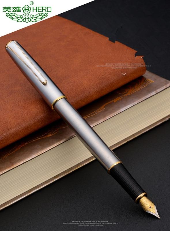 HERO Silver Piece Classical Design Stainless M Nib Fountain Pen
