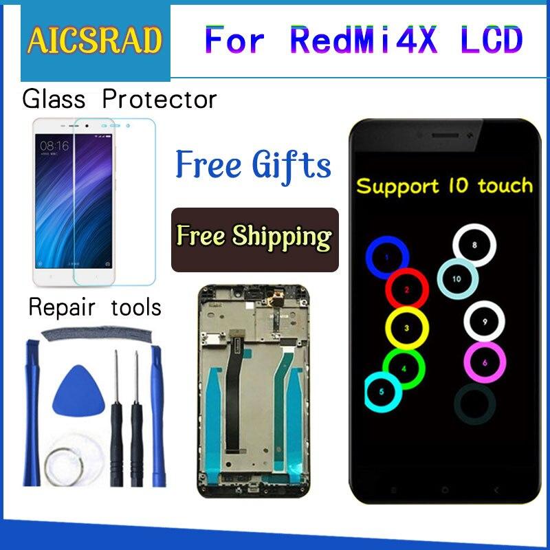 Para Xiaomi Redmi 4X pantalla LCD pantalla táctil reemplazo de la Asamblea del digitizador con marco para Xiaomi Redmi 4X Pro Prime 5,0 pulgadas