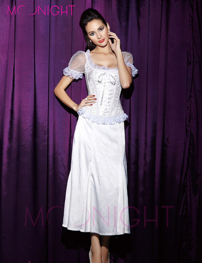 MOONIGHT 2019 New Black White Blue Yellow corsets and bustiers sexy Corsage waist corsets lace Short sleeve corset tops