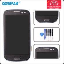 Синий i9300 ЖК-дисплей Дисплей для Samsung Galaxy S3 i9300 Сенсорный экран планшета с Home Button Узлы и агрегаты для автомобиля + ободок Рамки + Инструменты