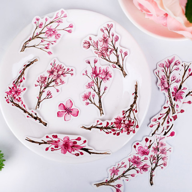 15/pack lindo Cerasus Kawaii Scrapbooking pegatinas DIY artesanía decoración diario álbumes de fotos pegatina de decoración