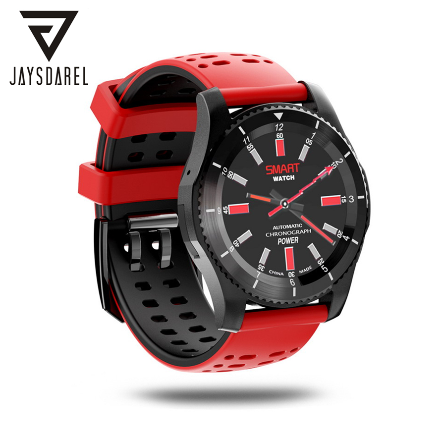 JAYSDAREL Heart Rate Blood Pressure Monitor Smart Watch No.1 GS8 SIM Card SMS Call Bluetooth Smart Wristwatch for Android iOS no 1 g6 eu us bluetooth 4 0 heart rate monitor smart watch black