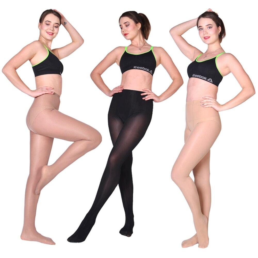 DROZENO Femmes de haute taille collants Slim fit Noir chair brun leggings slims Dames mode Sexy mémoire pression collants