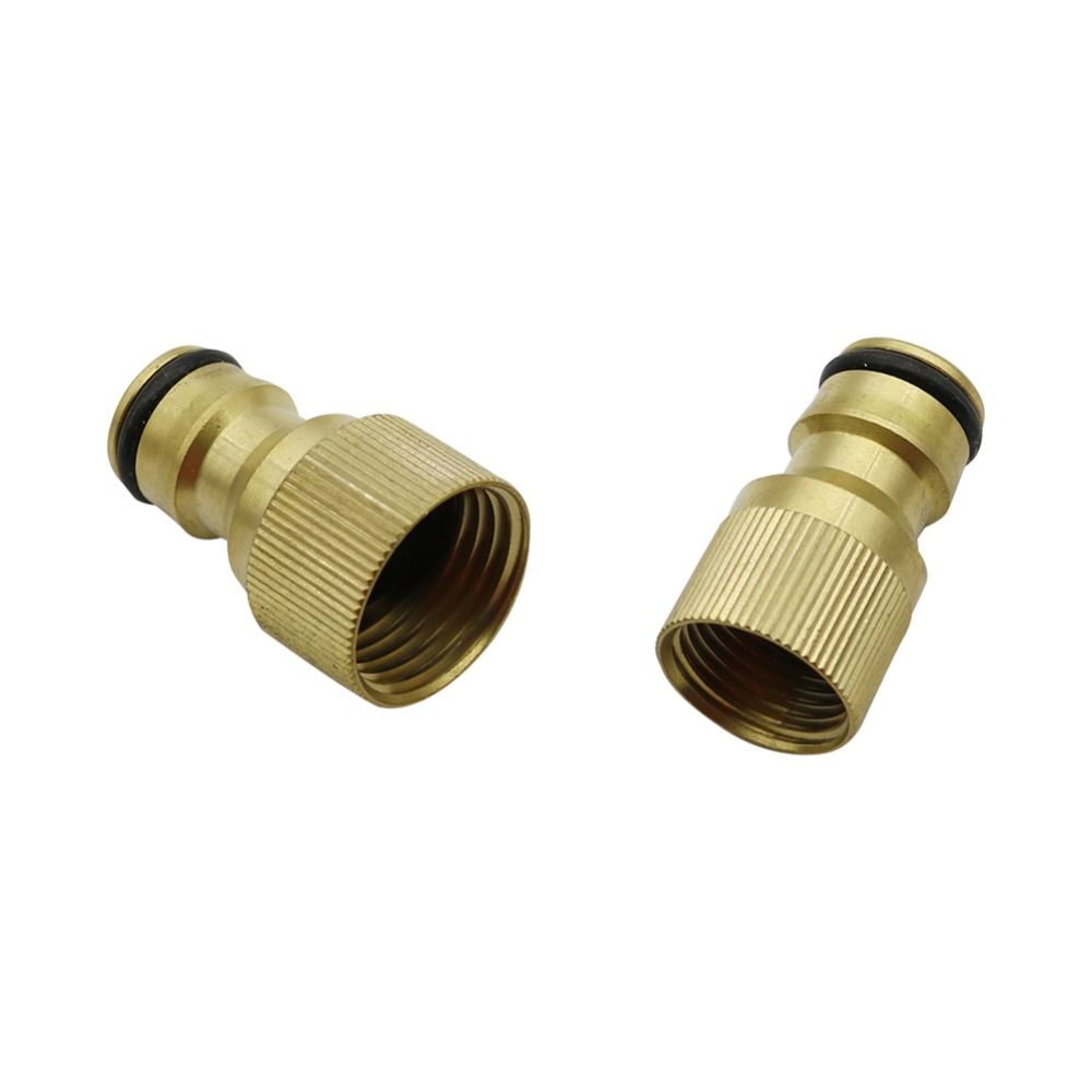 M18,M22 Brass Female Thread Connector Water Pump Nipple Joint Plumbing Pipe Fitting Hose Coupling Joint Tube 1 Pc