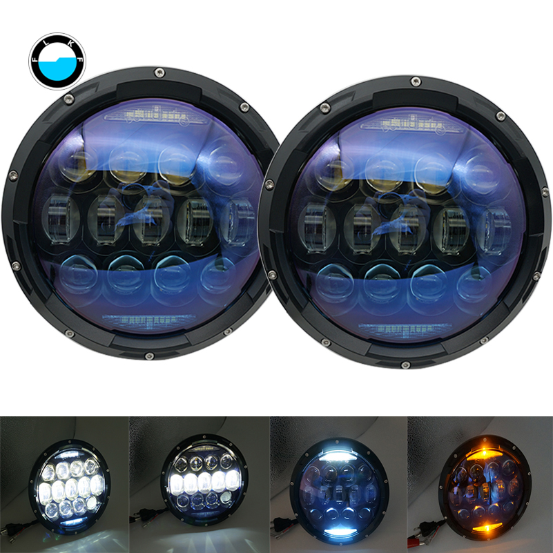 7inch led headliht for Jeep TJ JK led headlight high power auto h4 130w Car Light for lada niva 4x4 TJ JK Off road Driving Light