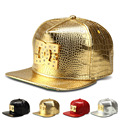 Novo estilo de Couro PU Cinco Estrelas bonés de Beisebol Diamante Ouro superstars crocodile grain snapback chapéu das mulheres dos homens esportes hip hop chapéus