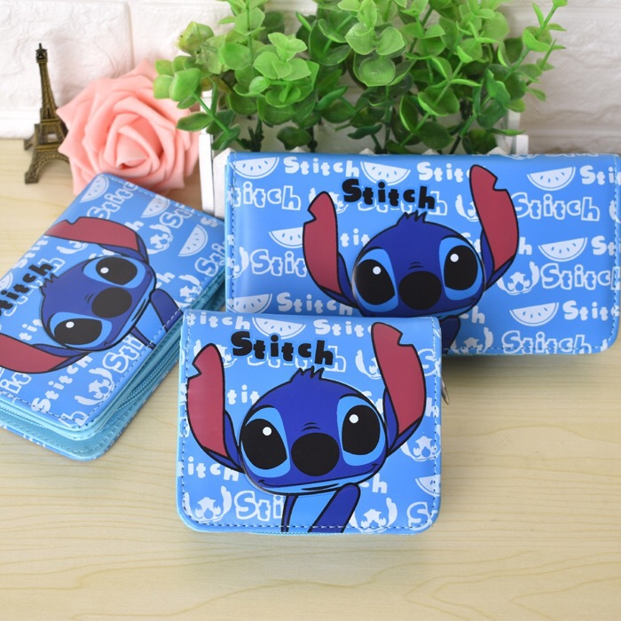 Disney Stitch Cartoon Children Purse Coin Boy Bag Storage Clutch Boy Wallet Girl Bag Coin Package Holder ID Card