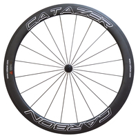 Catazer Design Carbon Road Bike Wheels 50 25mm 3K Matte Rim Clincher Basalt Brake Surface Anti