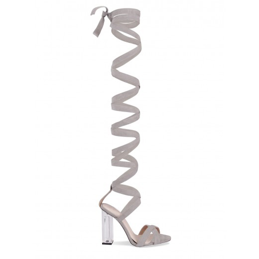 Sexy Women Gladiator Style Sandal Knee High Summer font b Shoes b font Sandals High Heels