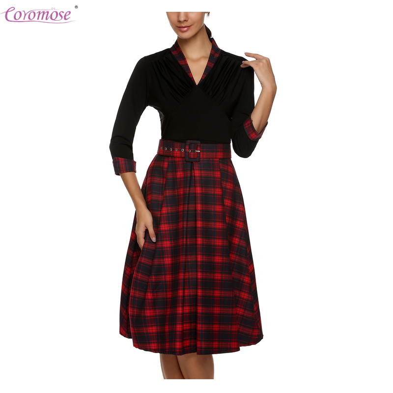 Online Get Cheap Plaid Cocktail Dress -Aliexpress.com | Alibaba Group