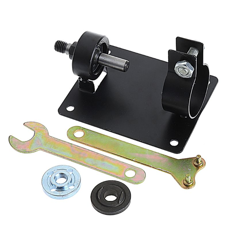 Mini Electric Drill Cutting Polishing Grinding Seat Stand 10mm Holder Set Machine Bracket Rod Bar+2 Wrenchs Gaskets Metal