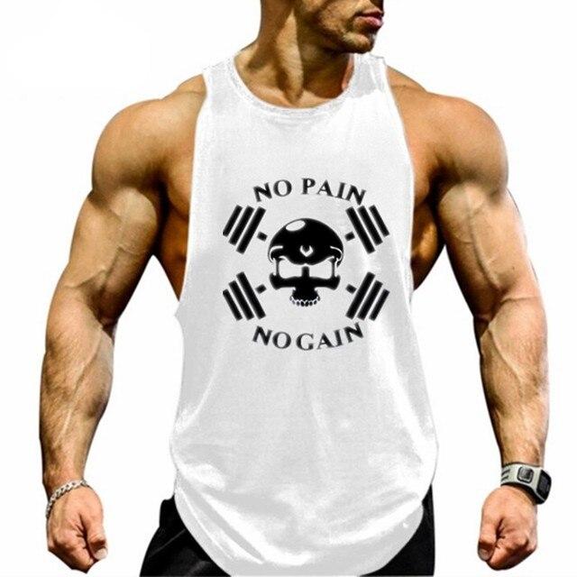 b4d16e3359b787 GYMS Clothing Men Fitness Shirts Cotton Men Tank Top Workout Bodybuilding  Men Sportwear Tank Top Sleeveless Vest