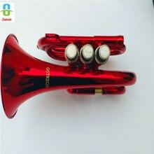 Новая Профессиональная школьная лента Красная карманная труба красная карманная труба с Чехол+ латунная карманная труба