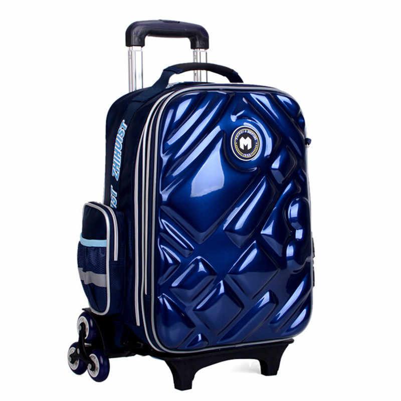 2/6 колеса для девочек, водонепроницаемая школьная сумка, модный рюкзак для мальчиков, сумка на колесиках, детские школьные сумки, Детские Сумки на колесиках, рюкзак для девочек