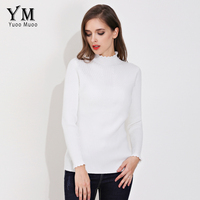 YuooMuoo New High Quality Sweater Women Basic Turtleneck Basic Cashmere Sweater Slim Thick Warm Winter Pullover