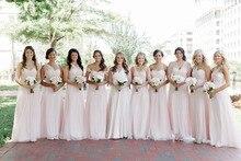BC123 Latest Design High Quality Cheap Floor Length vestido de festa Chiffon Pink Convertible Bridesmaid Dresses