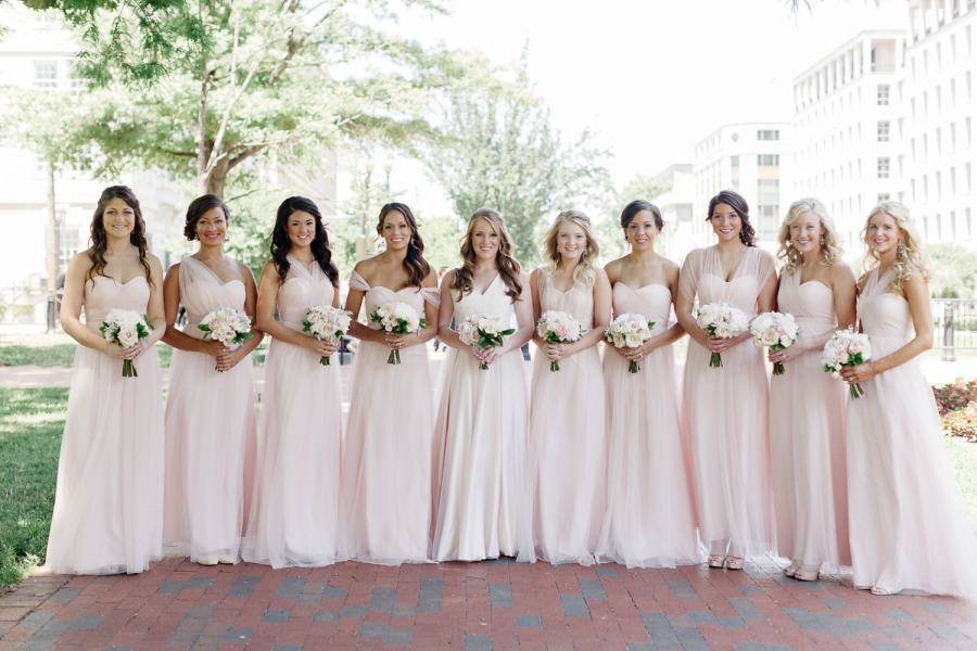 Blush Convertible Bridesmaid Dresses | Weddings Dresses