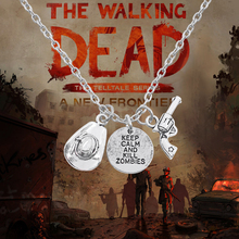 The Walking Dead Keep Calm and Kill Zombies Necklace