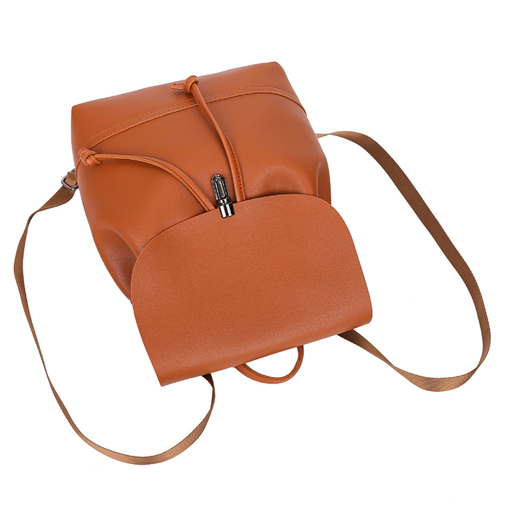HTB1sBYva8Gw3KVjSZFDq6xWEpXaF - Casual Large Capacity Shoulder Bags Vintage Pure Color Leather School Bag Backpack Satchel Women Trave Shoulder Bag