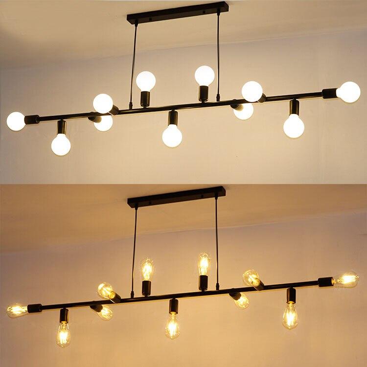 Retro Industry Pendant Lights For Restaurant Bar Living Room Decorative Pendant Lamp Clothing Store E27 Iron Fixtures