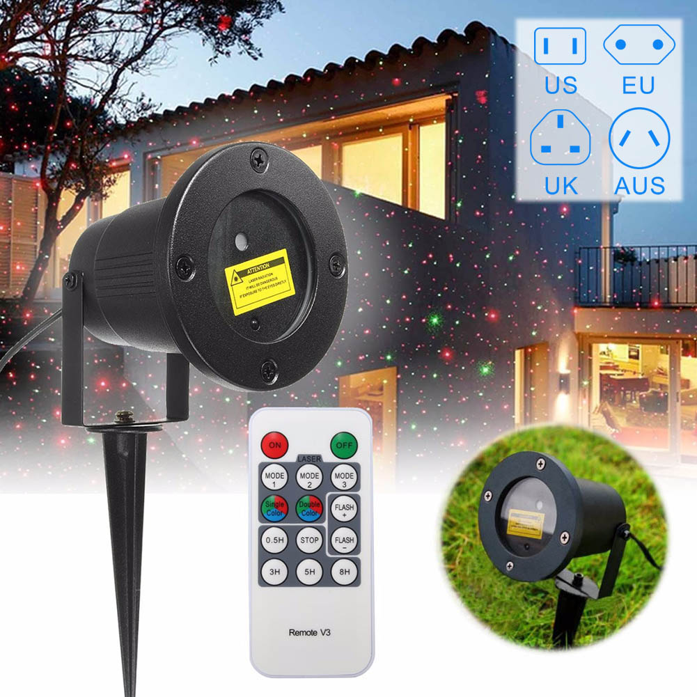 100-240V 2A Laser Fairy Projection Light,US/EU/AU/UK Plug Outdoor Waterproof Christmas Garden Landscape LED Lamp Projector --M25  free shipping us plug outdoor ip65 waterproof stage light christmas lights xmas light projector christmas uk us eu plug xx