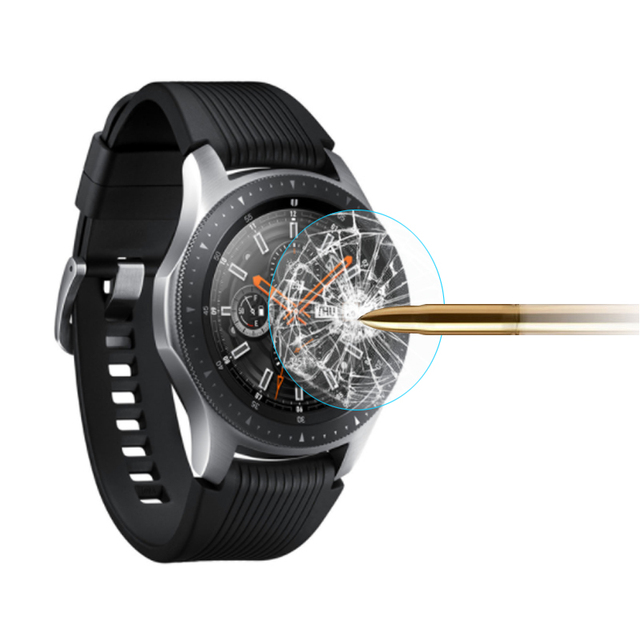 ギャラクシー時計3 45ミリメートル41ミリメートル2個ガラスフィルムフル強化ガラスフィルムギアS3 22ミリメートル画面保護素敵な時計