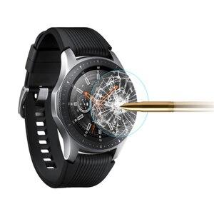 Image 1 - Para galaxy watch 3 45mm 41mm 2 pces filme de vidro temperado completo filme de vidro para engrenagem s3 22mm tela protetora agradável com seu relógio