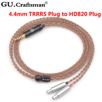 GUcraftsman 6n occ медь hd800 hd800s hd820 4Pin XLR 2,5 мм/4,4 мм Баланс наушников кабели повышенного качества