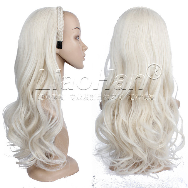2016 Fashion 34 Half Wig Fall Long Wavy Platinum Blonde Hair Fall With Braided Hairband Blonde Wig Fall Color 60 On Aliexpresscom Alibaba Group