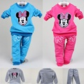 Embroidery Minnie Baby Girls Clothes Sets Children Sport Suits Girl Tracksuit Sweater Trousers Girl Outfits Spring Autumn Tops