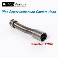 Диаметр 17 мм промышленной трубопроводной эндоскопа Камера головки с 6 шт. светодио дный, запасной Запчасти для водосток канализационные тру