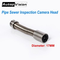 Diameter 17mm Industrial Pipeline Endoscope Camera Head with 6pcs LED,Spare Parts for Sewer Drain Pipe Inspection Camera System
