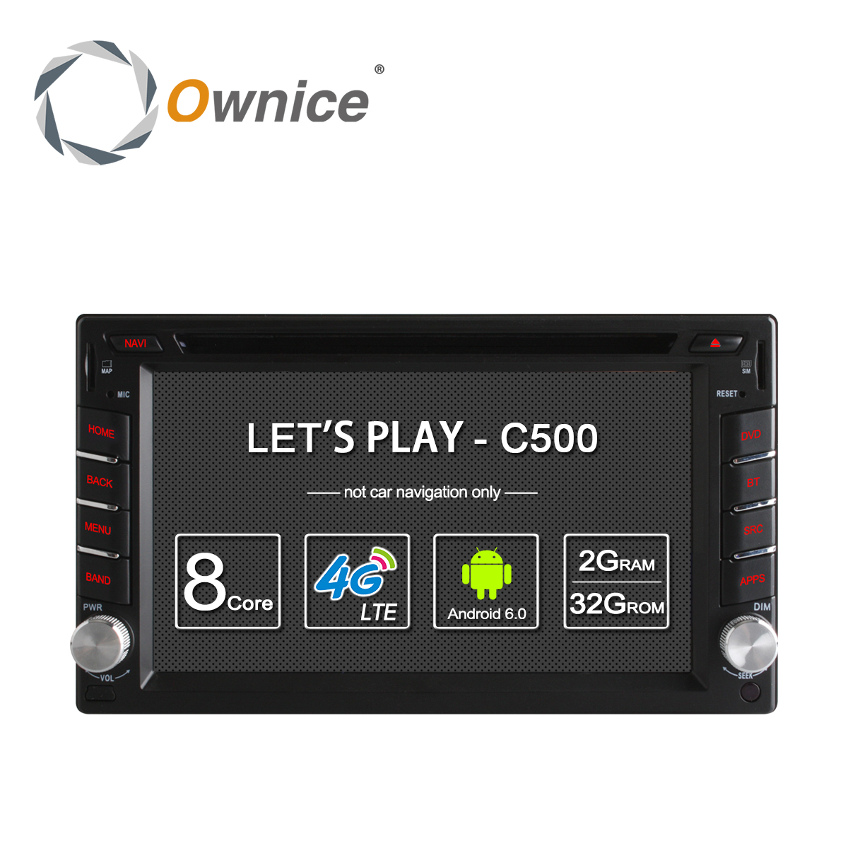 imágenes para Ownice C500 Universal 2 din Android 6.0 Octa 8 Core Coches reproductor de DVD GPS Wifi BT Radio BT 2 GB RAM 32 GB ROM 4G SIM de la Red LTE
