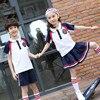 British Children School Uniform Sets Short Sleeve Summer Kindergarten Student Clothes Boy Performance Suit 18