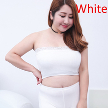 336da47bce Women White Black Lace Tube Top Sexy Brassiere Lace Bra Wrapped Chest Full  Cup Strapless Wire