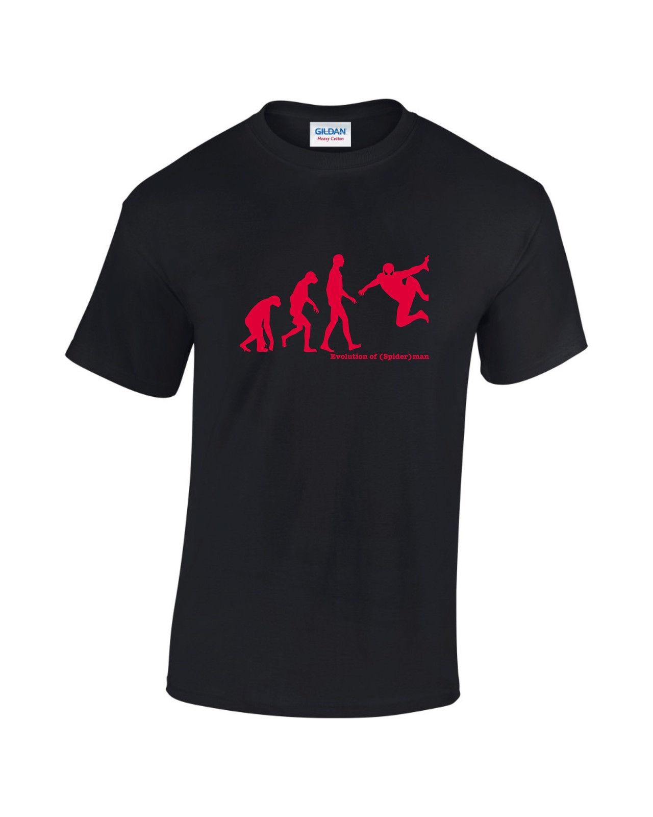 2018 New Summer High Quality Tee Shirt <font><b>Evolution</b></font> <font><b>Of</b></font> Man - <font><b>Spiderman</b></font> Comic Book Super Hero <font><b>Mens</b></font> Printed <font><b>T-Shirt</b></font> Cool <font><b>T-shirt</b></font>