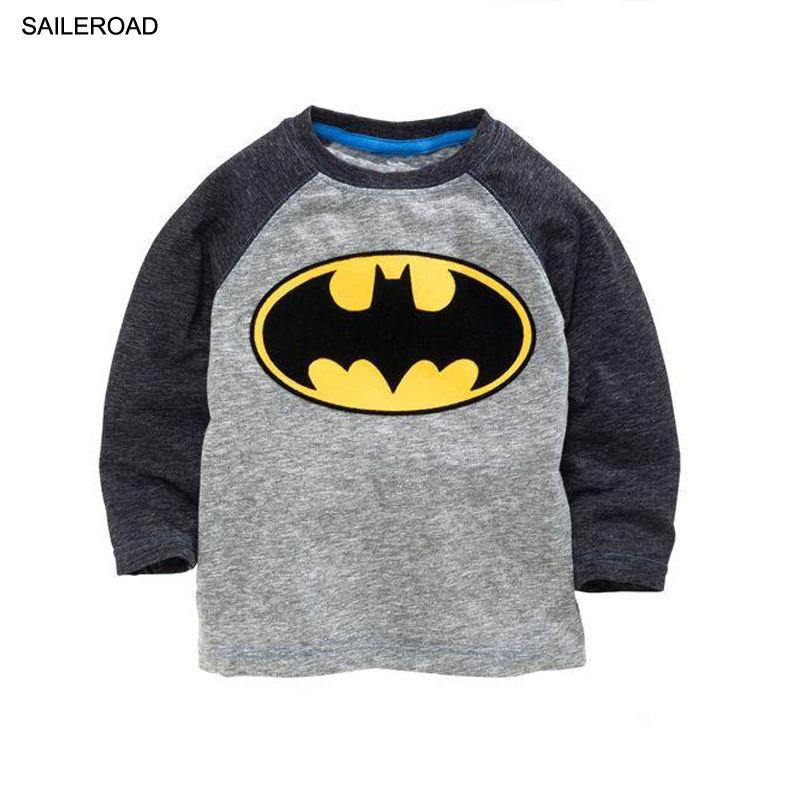1a1815ec42431 Batman V Superman 2-7 Ages Children Kids Boys Long Sleeve T Shirt Cotton  Baby Boys Tops Tees T-Shirt ...