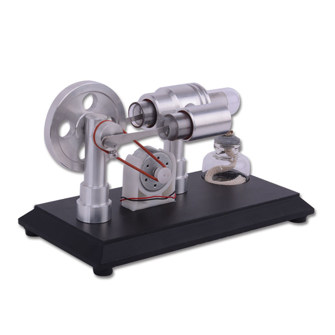Double-cylinder Micro DIY Stirling Engine External Combustion Engine metal baseboard double cylinder micro diy stirling engine external combustion engine