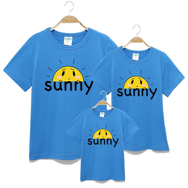 935e1f589 2017 New Summer Family matching mother daughter clothes girls boys t shirt  Dad Son short sleeve