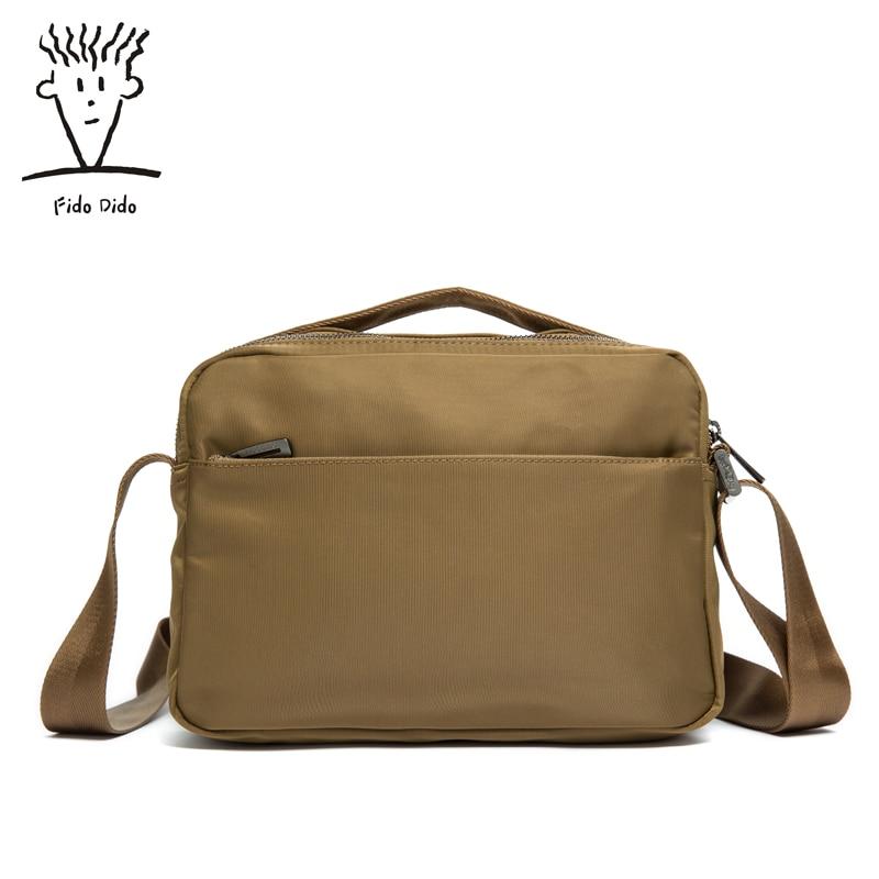 Fido Dido 2017 New Vintage Nylon Bag Handbag Men Messenger Bag Men Messenger Bag Shoulder Bag!! fido
